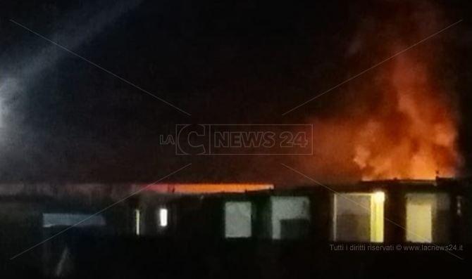 L'incendio a San Ferdinando