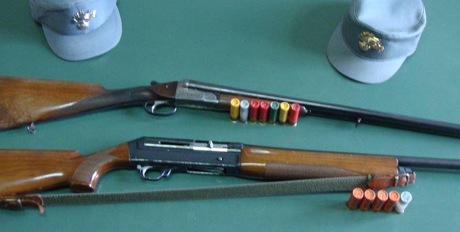 I fucili e i proiettili sequestrati