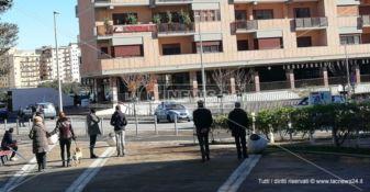 Piazza Rotella transennata a Catanzaro