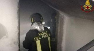 Incendio in un condominio