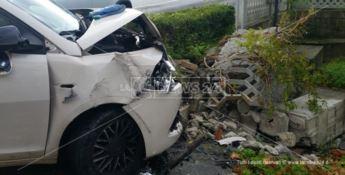 L'auto dell'uomo coinvolto nell'incidente