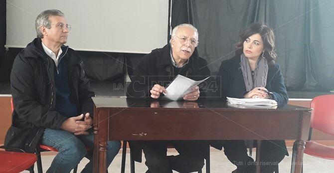 La conferenza stampa del comitato No Metro Cosenza
