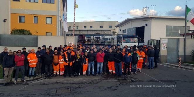 I lavoratori in protesta