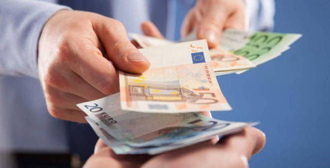 Un pagamento in contanti