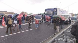 Lsu-Lpu, la rabbia dei precari invade l'autostrada: traffico in tilt