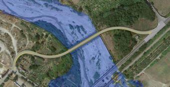 Ponte sul fiume Allaro, quasi pronto il guado alternativo
