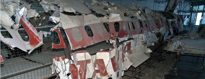 Il relitto del Dc-9 perecipitato il 27 giugno del 1980