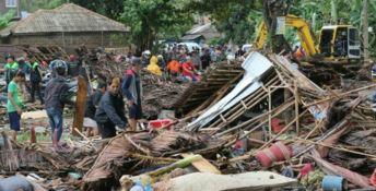 I danni dello tsunami - Foto Ansa