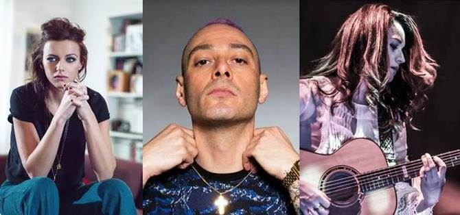 Rachele Bastreghi, Fabri Fibra e Carmen Consoli