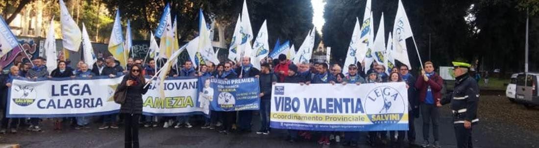 La delegazione leghista calabrese a Roma
