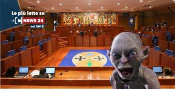 L'aula del consiglio regionale e Gollum