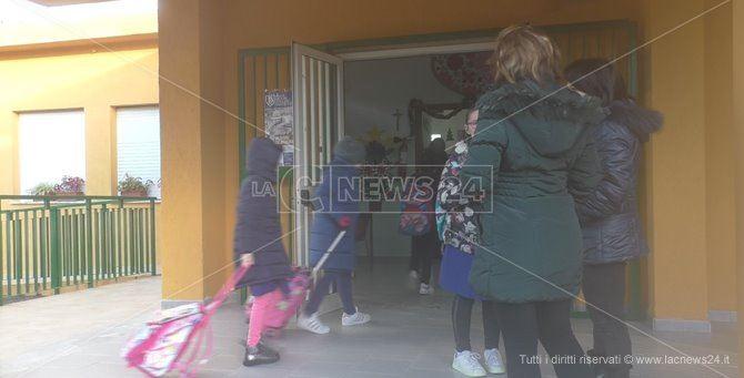 I bambini entrano nella scuola