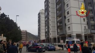 Appartamento in fiamme in Via Popilia a Cosenza