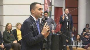 Il ministro Di Maio a Cosenza in vista del voto regionale