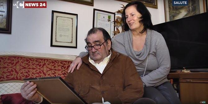 Angelo con la moglie
