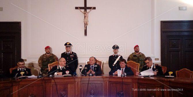 La conferenza stampa dell'operazione Stige