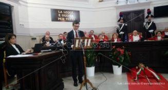 A Catanzaro l'inaugurazione dell'anno giudiziario: è allarme organici (FOTO-VIDEO)