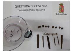 Rossano, la polizia sequestra un'arma e stupefacenti