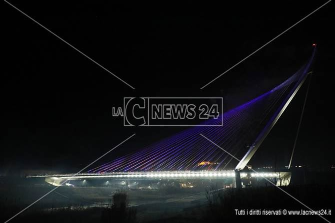 L'inaugurazione del ponte di Calatrava