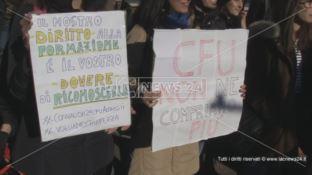 Unical, proteste per la mancata convalida dei crediti formativi universitari (VIDEO)