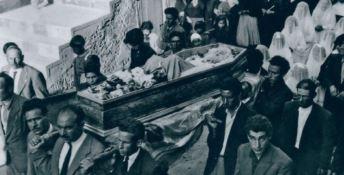 I funerali della Monachella il 27 maggio 1953