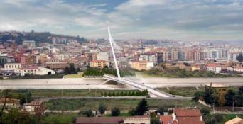 Lo spettacolo sul ponte di Calatrava
