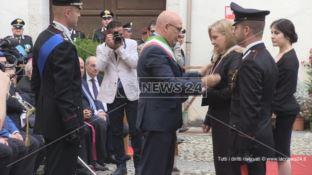 Cosenza, carabinieri a Palazzo Arnone per la celebrazione dell'anniversario -VIDEO