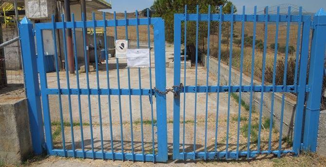 L'ingresso del depuratore comunale di Brancaleone