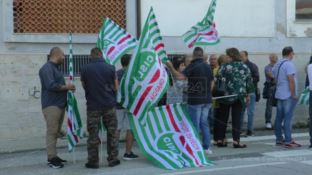 La protesta dei tirocinanti a Catanzaro