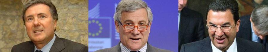 Piero Aiello, Antonio Tajani e Tonino Gentile