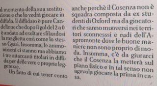 Cosenza sull'Aspromonte, la gaffe del cronista sportivo su l'Alto Adige