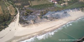 Incendio di vaste proporzioni distrugge dieci ettari a Sellia Marina