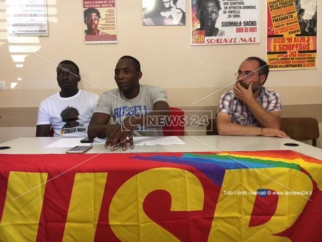 La conferenza stampa dell'Usb