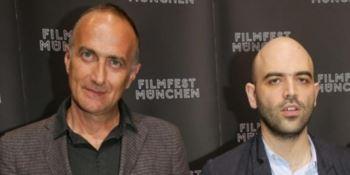 Il regista Stefano Sollima e lo scrittore Roberto Saviano