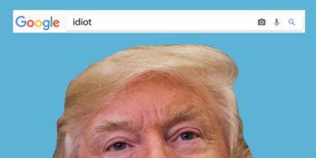 """Per Google Immagini """"l'idiota"""" per definizione ha la faccia di Trump"""