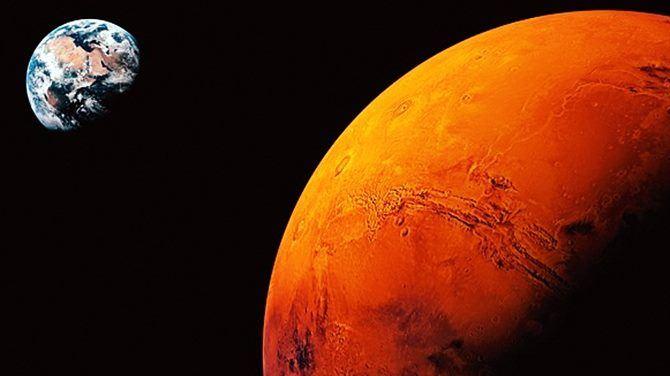 Marte e la terra