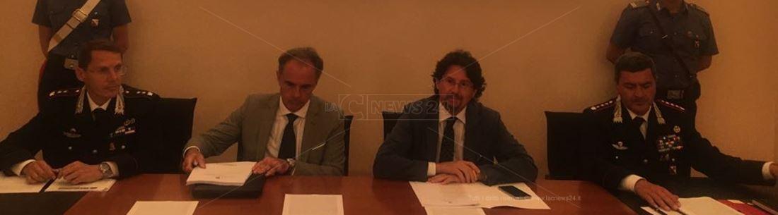 La conferenza stampa dell'operazione Ares