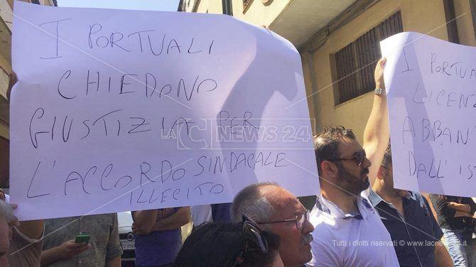 La protesta a Palmi