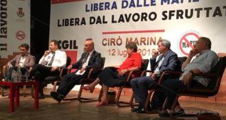 Camusso a Cirò Marina: «Una follia reintrodurre i vaucher»