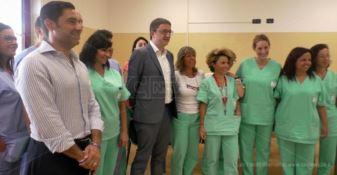 A Lamezia Terme il sottosegretario Fugatti in visita al centro Protesi