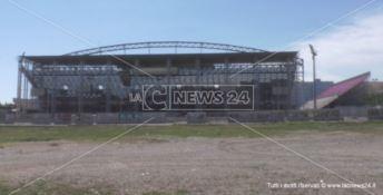Stadio di Crotone, le strutture mobili dovranno essere smantellate -VIDEO