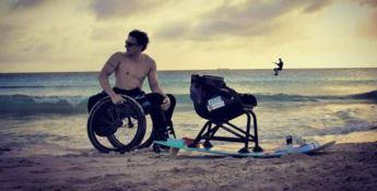 Sport, Willem Hooft: «Sul kite dimentico la mia disabilità»
