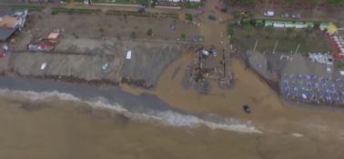 Un'immagine dell'alluvione che colpì il territorio di Rossano nel 2015