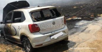 Montepaone, in fiamme l'auto di un istituto di vigilanza