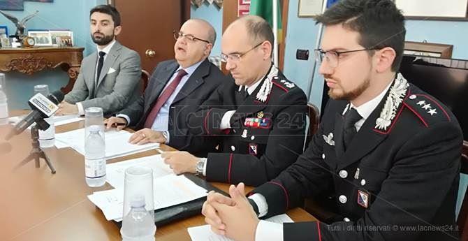 La conferenza stampa presieduta dal Procuratore capo di Lamezia Salvatore Curcio