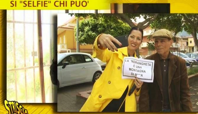L'inviata del Tg satirico a San Luca
