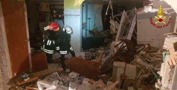 L'appartamento distrutto dallo scoppio