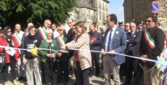 Il taglio del nastro alla presenza dei deputati Enza Bruno Bossio e Antonio Viscomi