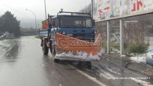 Già passato l'effetto neve, migliora la situazione nel Cosentino