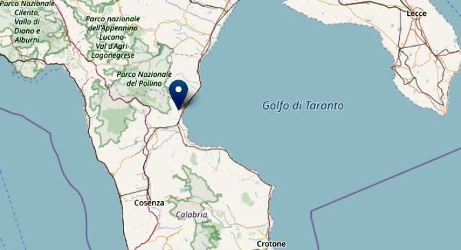 Terremoto a Villapiana nel Cosentino